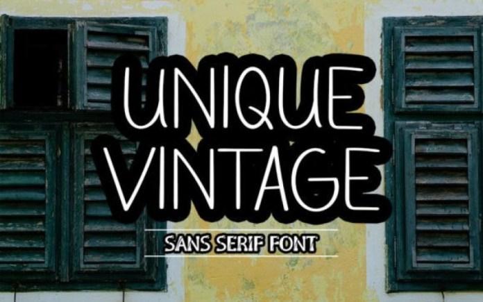 Unique Vintage Font