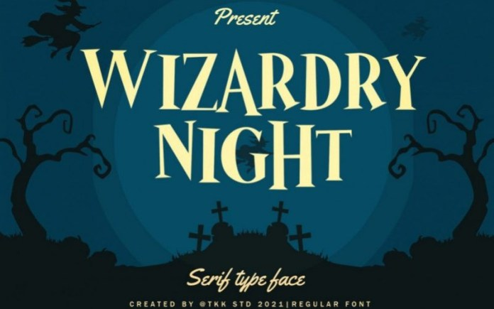 Wizardry Night Font