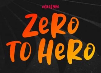Zero To Hero Font