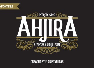 Ahjira Display Font