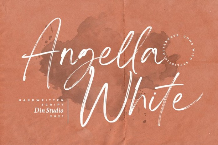 Angella White Brush Font