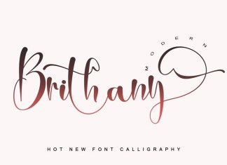 Brithany Calligraphy Font
