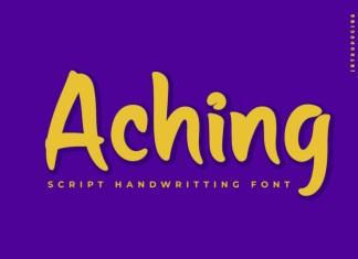Aching Display Font