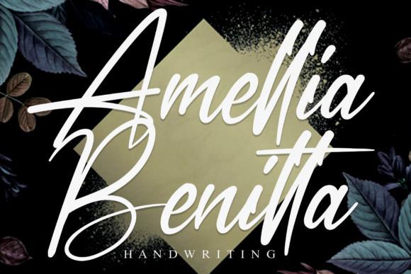 Amellia Benitta Script Font