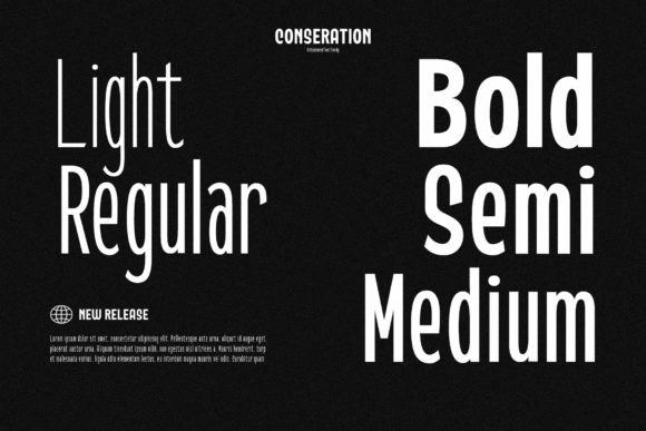 Conseration Sans Serif Font