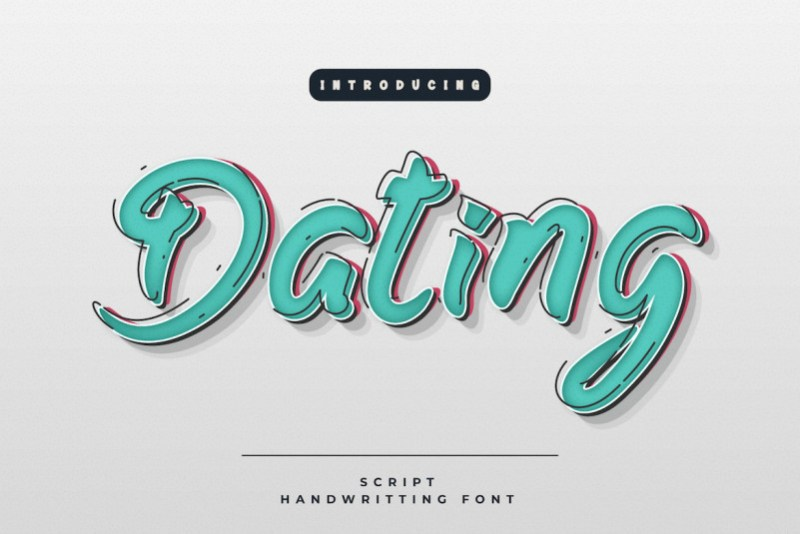 Dating Display Font