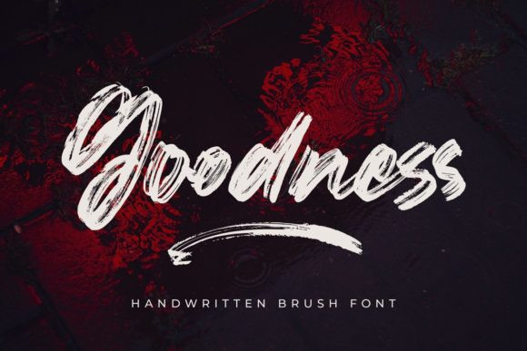 Goodness Brush Font