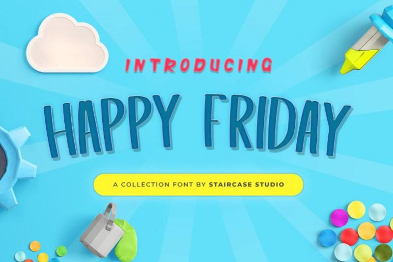 Happy Friday Display Font