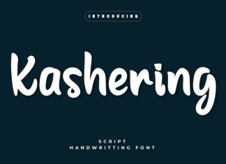 Kashering Display Font