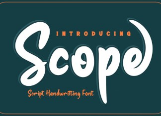 Scope Display Font