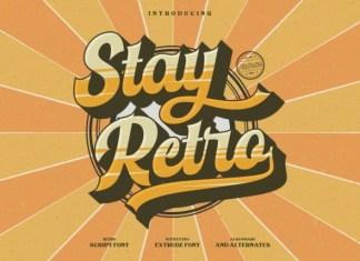 Stay Retro Script Font