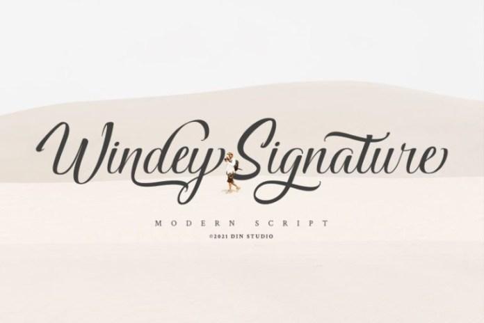 Windey Signature Script Font