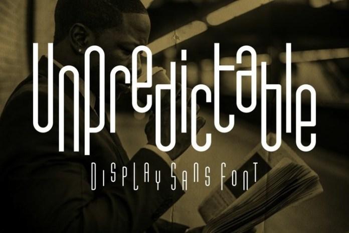 Unpredictable Display Font