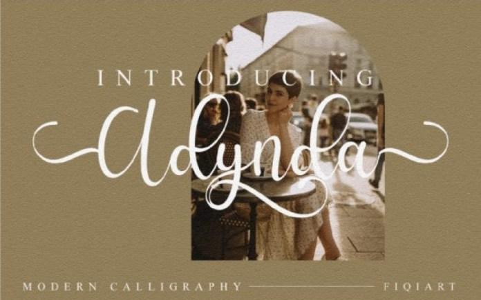 Adynda Script Font