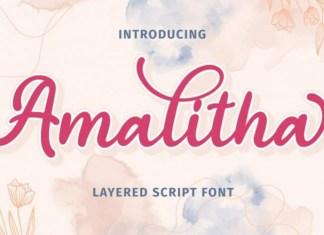 Amalitha Calligraphy Font