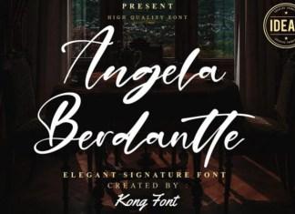 Angela Berdantte Script Font