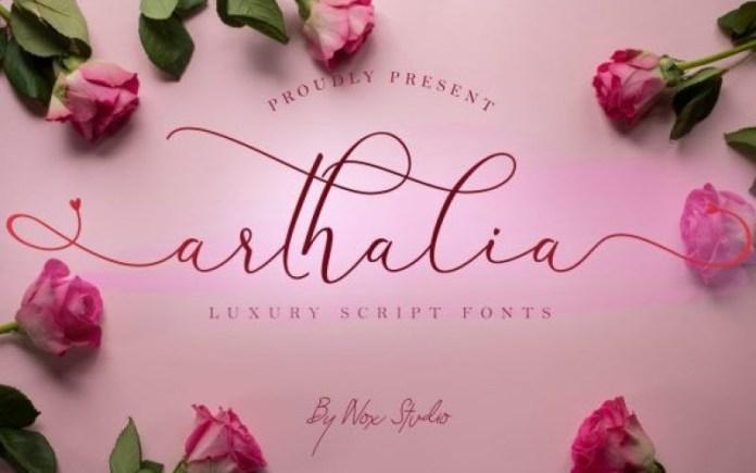Arthalia Calligraphy Font