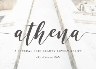 Athena Calligraphy Font
