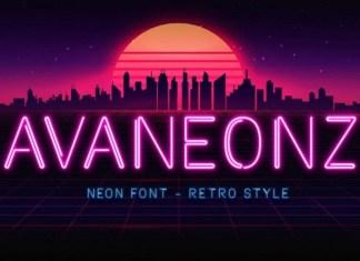 Avaneonz Display Font