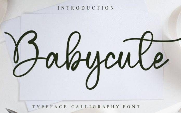 Babycute Font