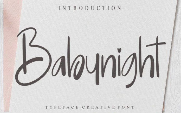 Babynight Font