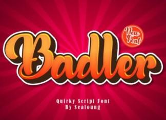 Badler Script Font
