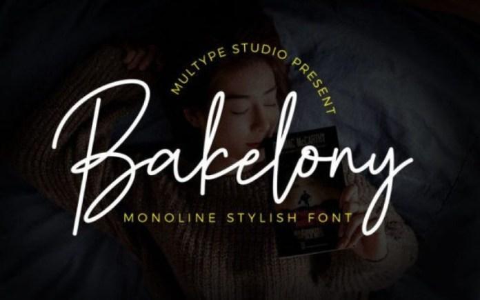 Bakelony Handwritten Font