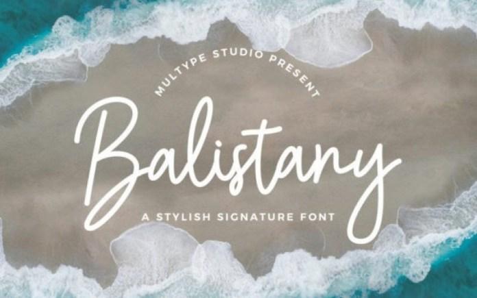 Balistany Handwritten Font