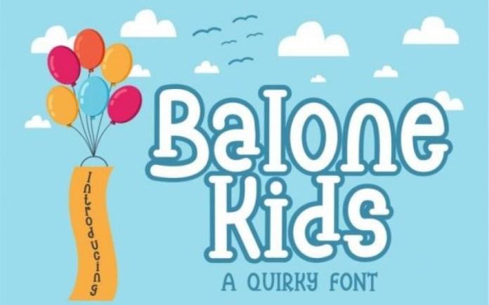 Balone Kids Font