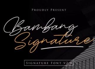 Bambang Signature Font