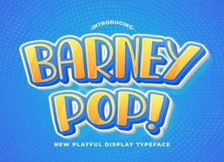 BARNEY POP Display Font