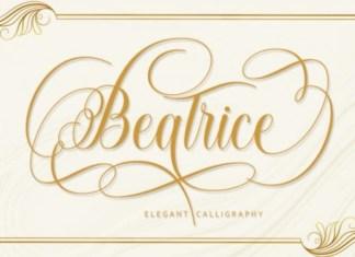 Beatrice Calligraphy Font
