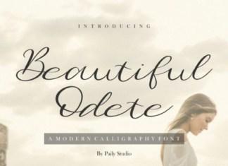 Beautiful Odete Script Font