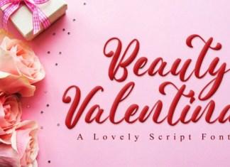 Beauty Valentina Calligraphy Font