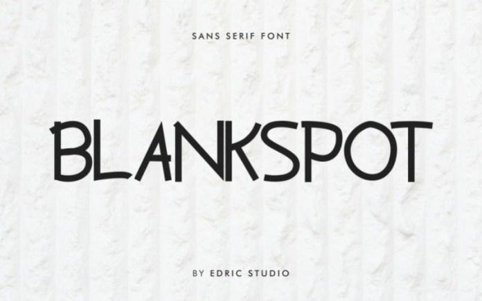Blankspot Sans Serif Font