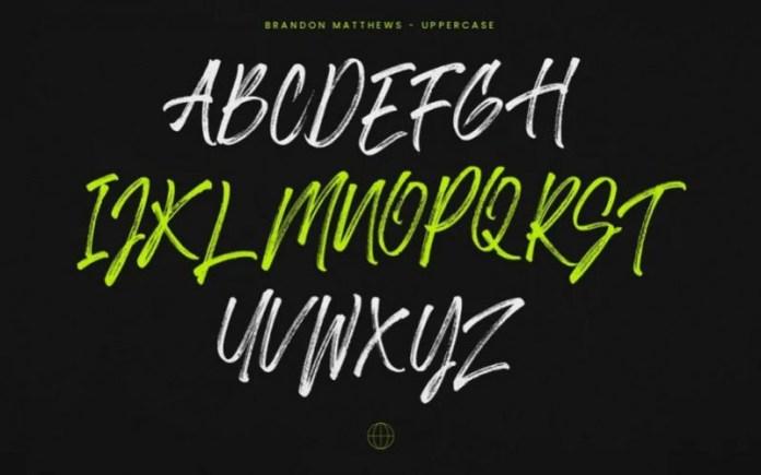 Brandon Matthews Brush Font