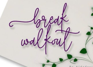 Break Walkout Handwritten Font