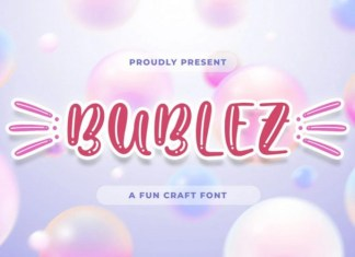 Bubblez Display Font