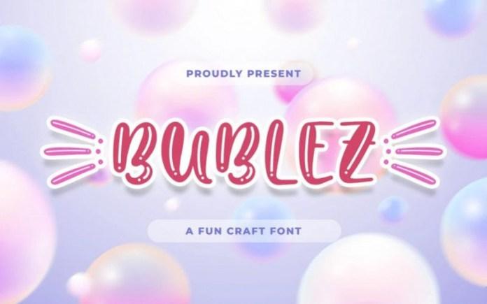 Bubblez Display Font