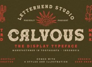 Calvous Display Font