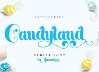 Candyland Calligraphy Font