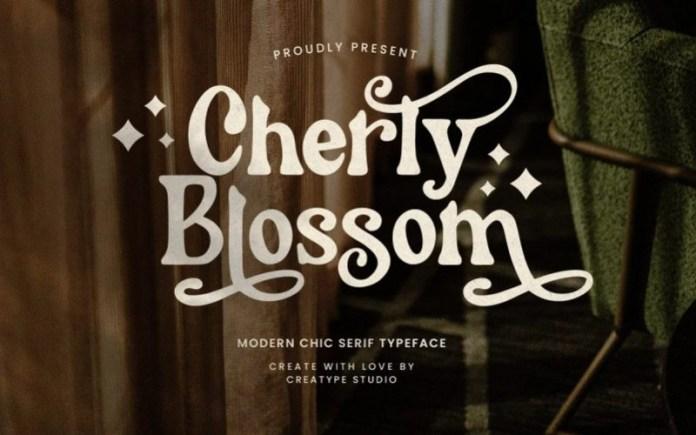 Cherly Blossom Serif Font