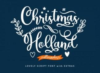 Christmas Holland Font