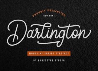 Darlington Handwritten Font