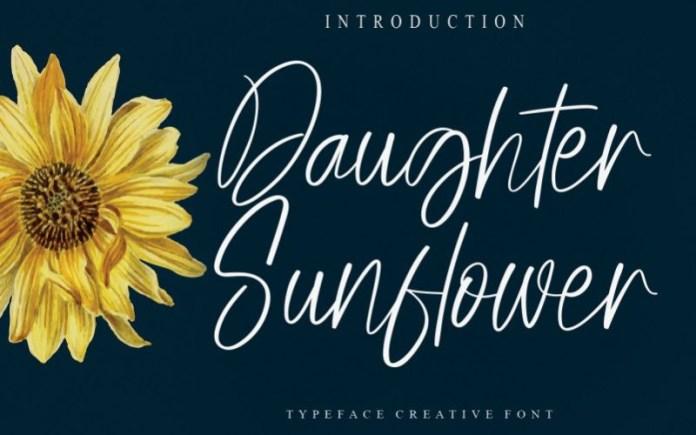 Daughter Sunflower Font