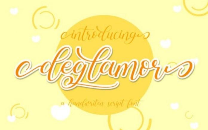 Deglamor Script Font
