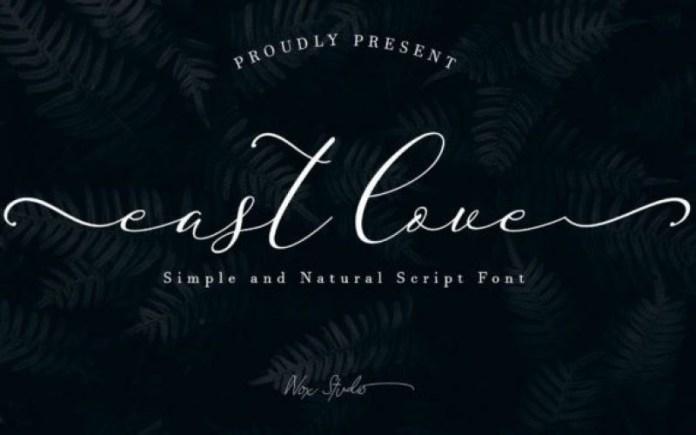 East Love Script Font