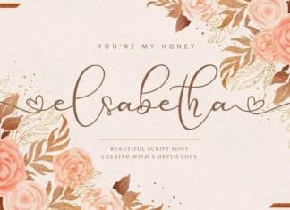 Elsabetha Calligraphy Font