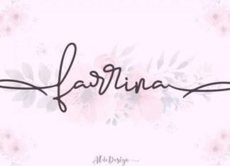 Farrina Handwritten Font