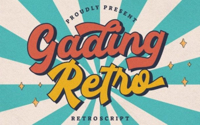 Gading Retro Script Font